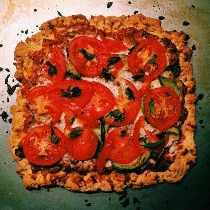 Homemade Chicken Caprese Pizza